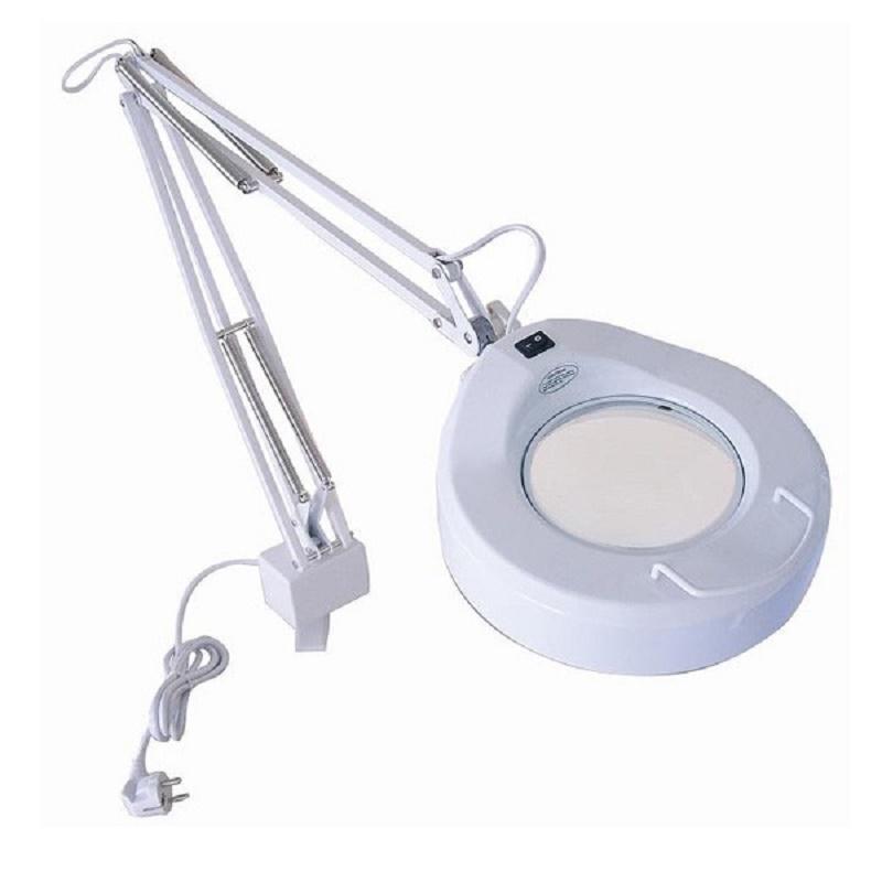 Lampe loupe Fluoresçant en métal. blanc